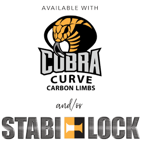 Logos of Stabi-Lock Limb Attachment and CobraCurve Carbon for limb options