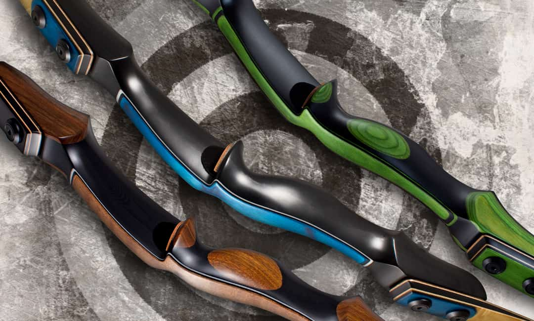 """Three P3 Target Archery Recurves with 23"""" Handles"""