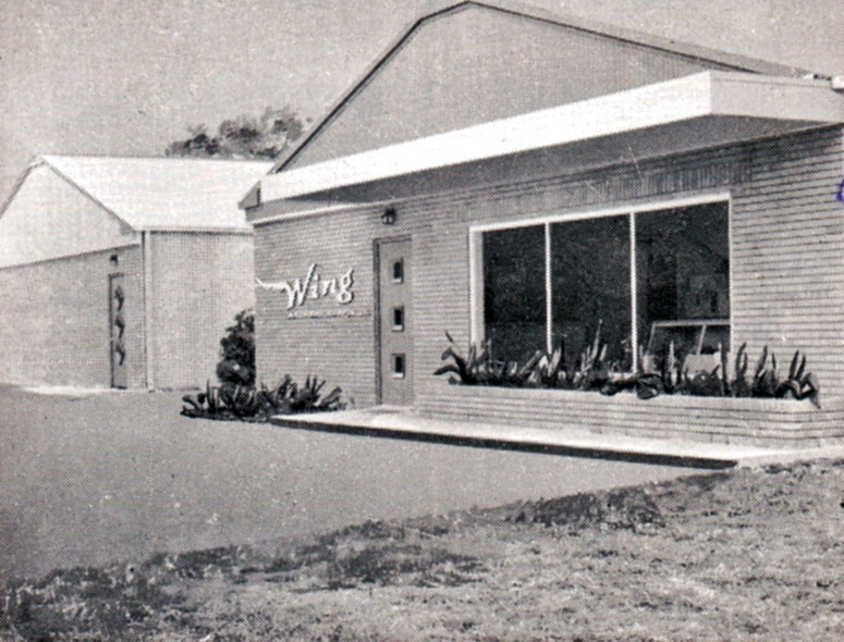 Front of the Wing Archery building in Houston, Texas, where Bob Lee first began building his legendary recurves