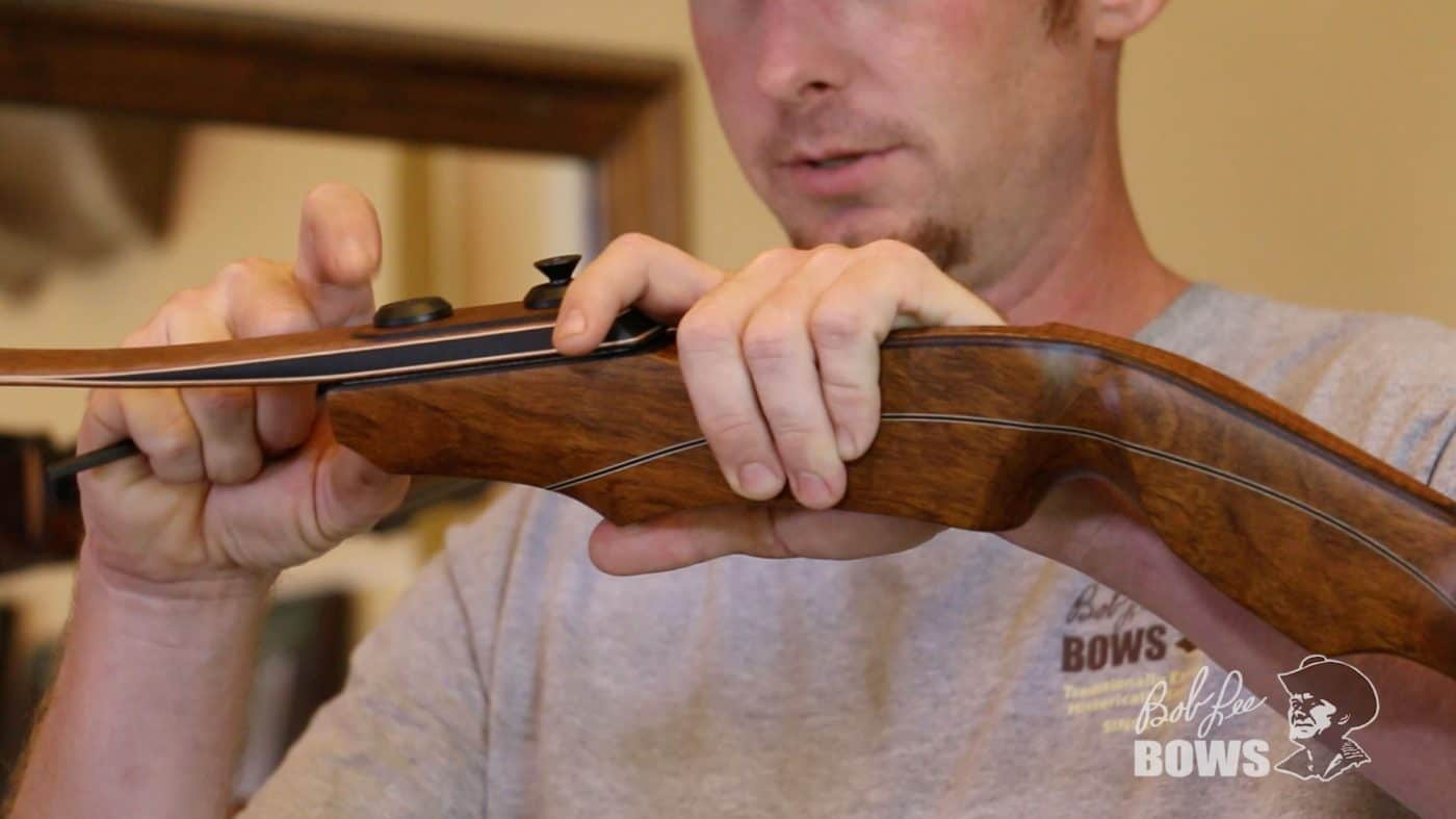 JJ at Bob Lee Bows shows the assembly of a Stabi-Lock recurve handle and limb