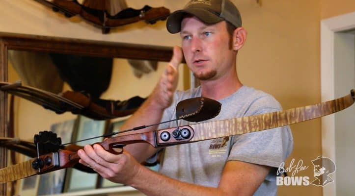 JJ shows how to attach a quiver to a Bob Lee recurve or longbow