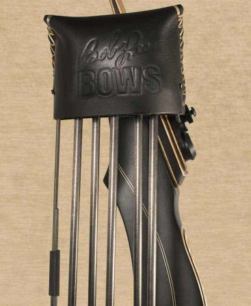 Black Leather Great Northern Quiver for Bob Lee Takedown Recurve or Longbow