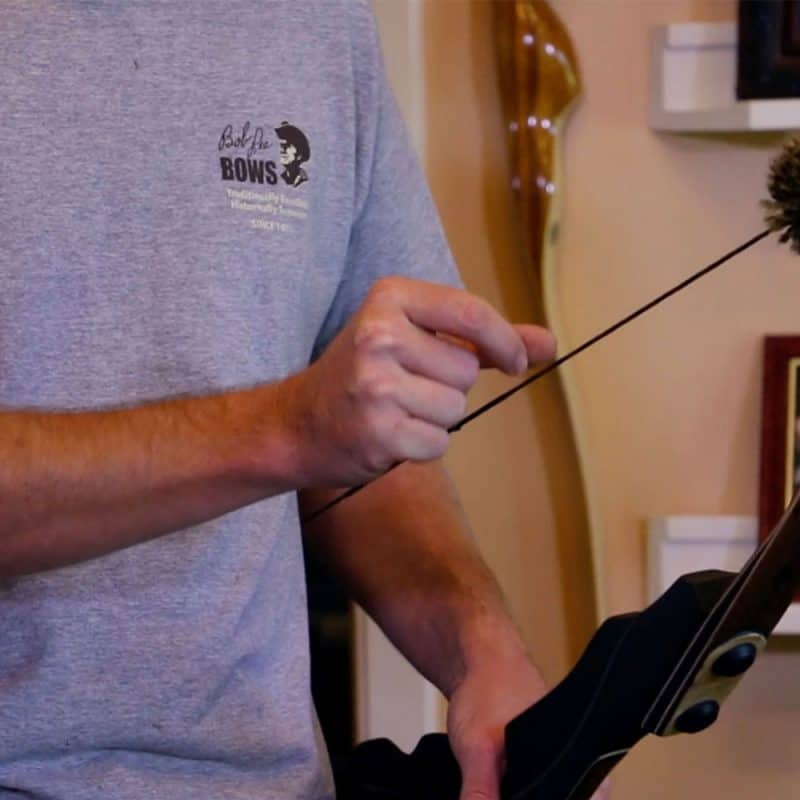 JJ showing how to string a Stabi-Lock bow
