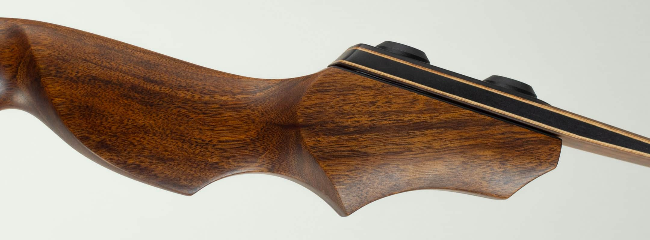 Closeup of Wood Grain on a Recurve Bow
