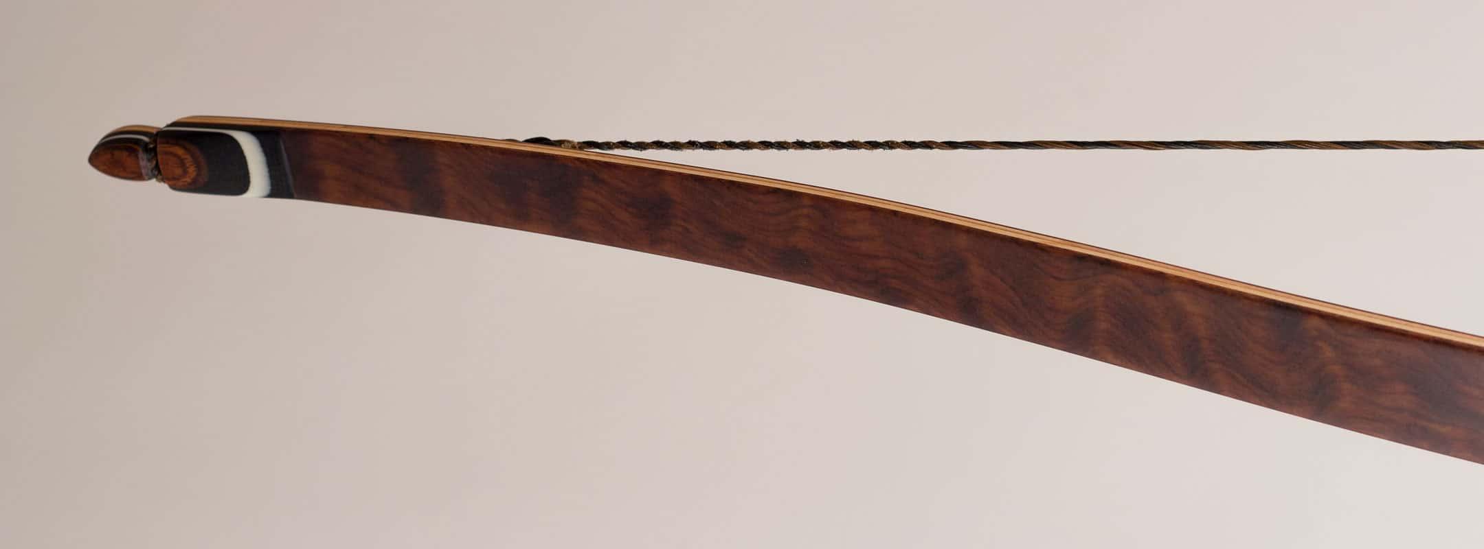 Bubinga limbs on a traditional longbow