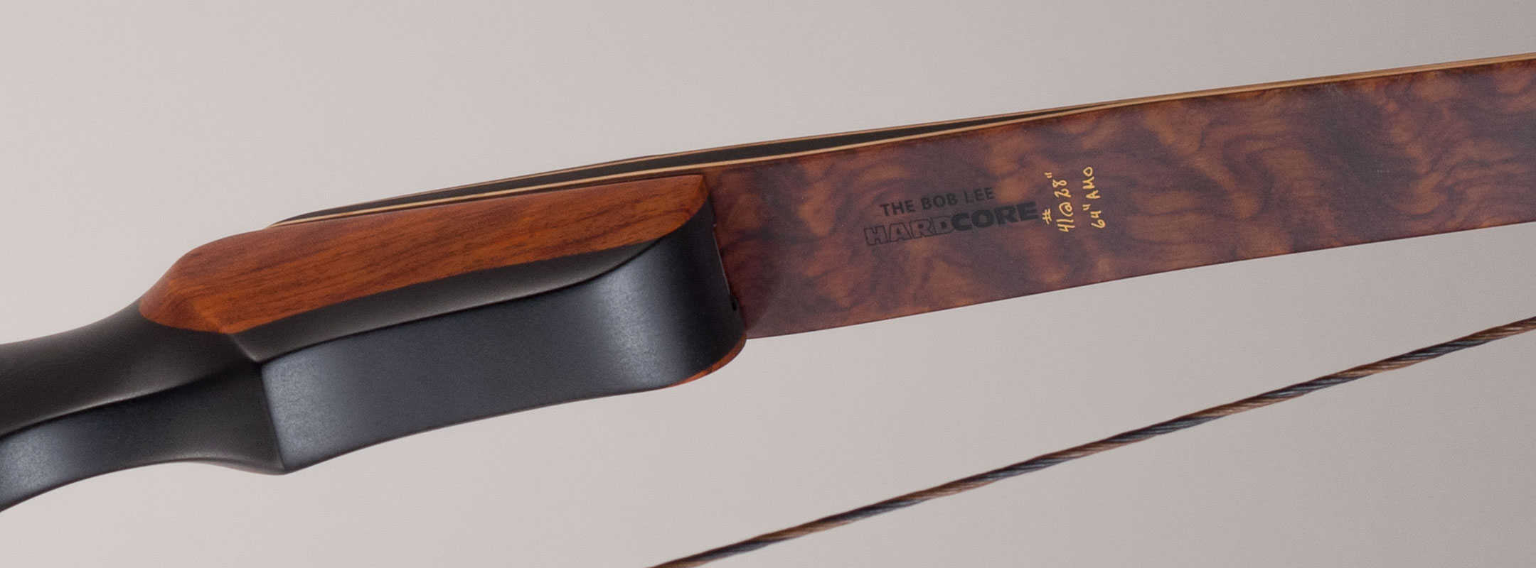 Handle and limbs of a traditional hunting longbow