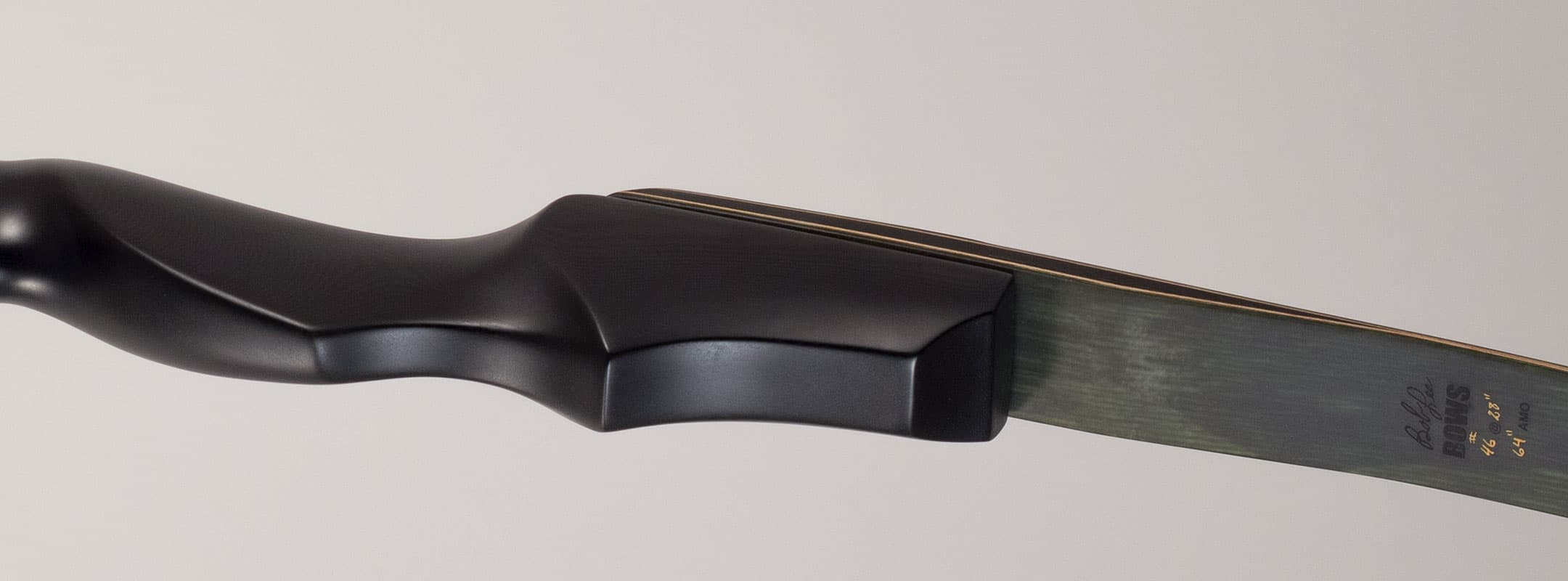 Closeup of high performance handcrafted tradbow - recurve 13291